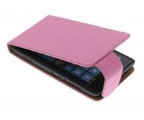 Roze classic flipcase Nokia Lumia 520