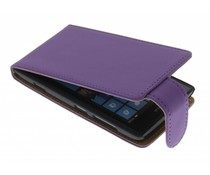 Paars classic flipcase Nokia Lumia 520 / 525