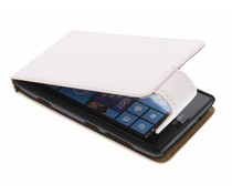 Wit classic flipcase Nokia Lumia 520 / 525