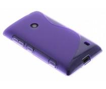 Paars S-line TPU hoesje Nokia Lumia 520 / 525