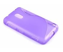 Paars S-line TPU hoesje Nokia Lumia 620