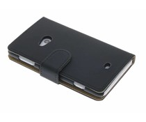 Zwart matte booktype hoes Nokia Lumia 625