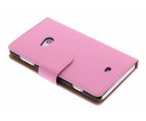 Roze matte booktype Nokia Lumia 625