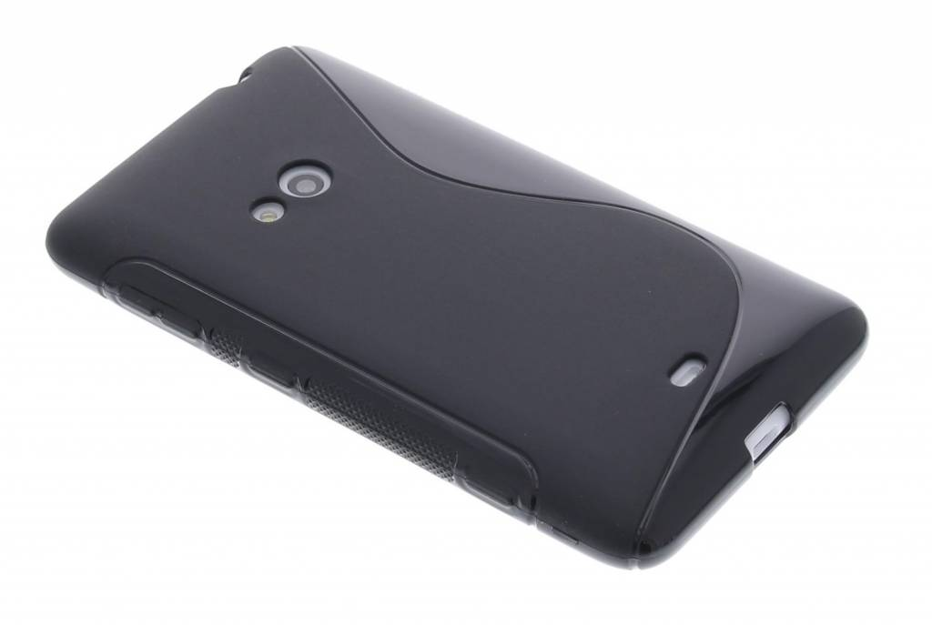 Zwarte S-Line TPU hoes voor de Nokia Lumia 625