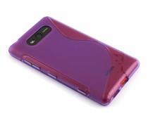 Paars S-line TPU hoesje Nokia Lumia 820