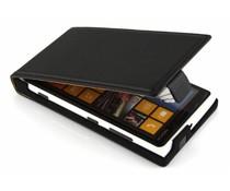Zwart luxe flipcase Nokia Lumia 920