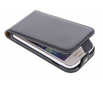 Zwart luxe flipcase Samsung Galaxy Ace 3