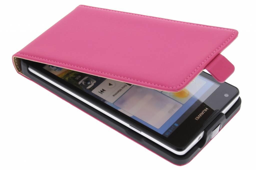 Mobiparts Premium flipcase voor de Huawei Ascend G700 - Pink