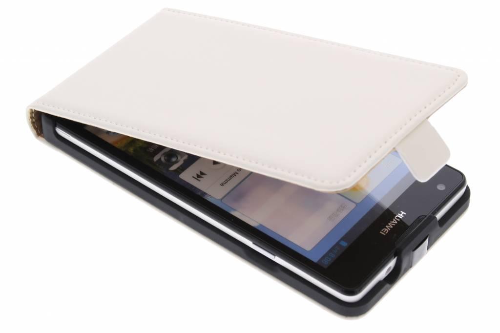 Mobiparts Premium flipcase voor de Huawei Ascend G700 - White