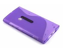 Paars S-line TPU hoesje Lumia 920