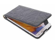 Zwart kreukelleder flipcase Galaxy Note 3