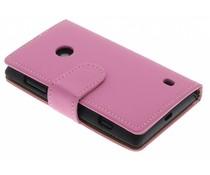 Roze effen booktype hoes Nokia Lumia 520 / 525