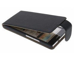 Zwart classic flipcase Huawei Ascend P6 / P6s