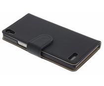 Zwart effen booktype Huawei Ascend P6 / P6s