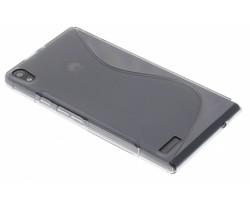 Grijs S-line TPU hoesje Huawei Ascend P6 / P6s