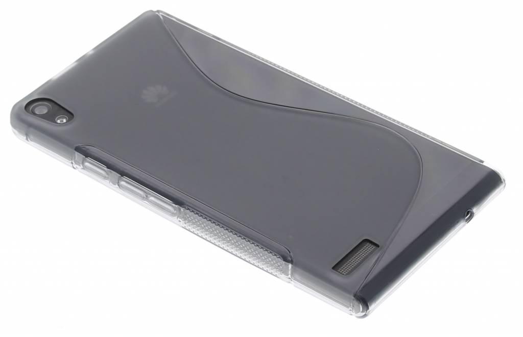 Grijs S-line TPU hoesje voor de Huawei Ascend P6 / P6s