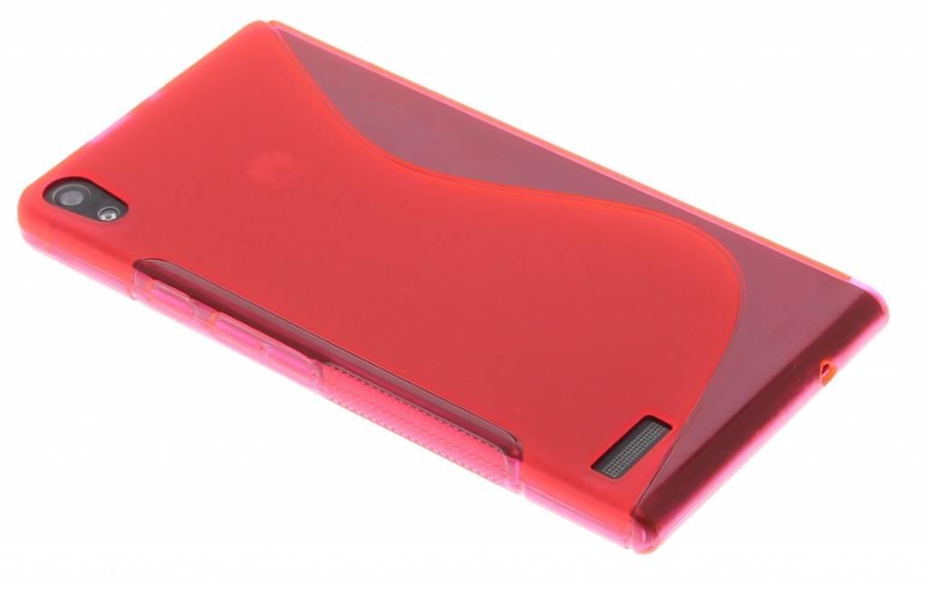 Rosé S-line TPU hoesje voor de Huawei Ascend P6 / P6s