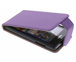 Paars classic flipcase Huawei Ascend Y300