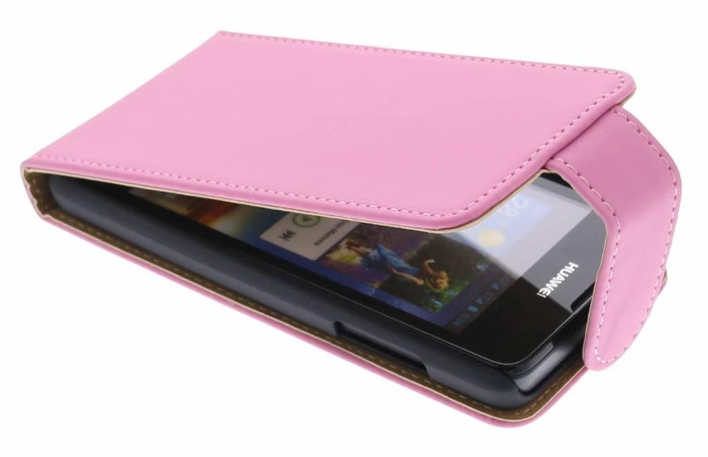 Roze classic flipcase voor de Huawei Ascend Y300