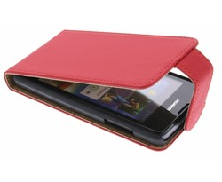 Rood classic flipcase Huawei Ascend Y300