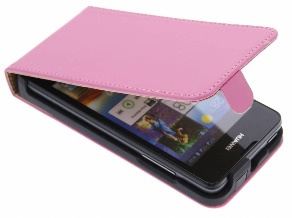 Roze luxe flipcase voor de Huawei Ascend Y300