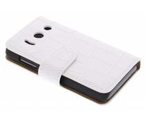 Wit krokodil booktype hoes Huawei Y300