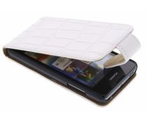 Wit mat krokodil flipcase Huawei Y300