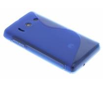 Blauw TPU S-Line hoesje Huawei Ascend Y300