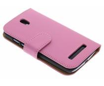 Roze booktype hoes HTC Desire 500