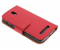 Rood booktype hoes HTC Desire 500