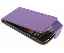 Paars classic flipcase HTC Desire 500