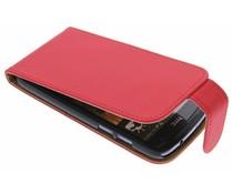 Rood classic flipcase HTC Desire 500