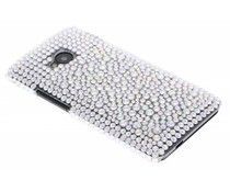 Wit BlingBling hardcase hoesje HTC One