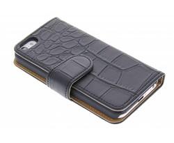 Zwart krokodil booktype hoes iPhone 5c