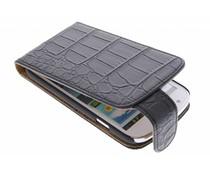 Zwart matte krokodil flipcase Samsung Galaxy Express