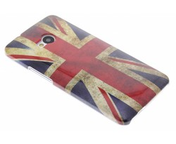 Britse vlag design glad hardcase hoesje HTC One