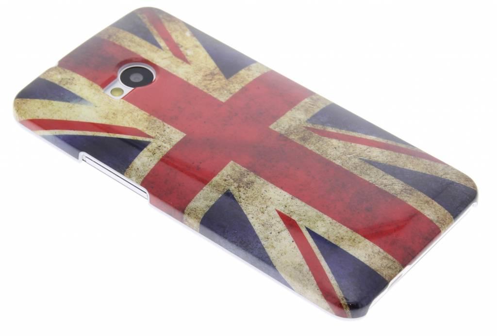 Britse vlag design gladde hardcase hoesje voor de HTC One