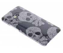 Doodskop design glad hardcase hoesje HTC One