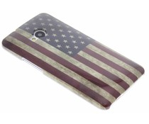 USA vlag design glad hardcase hoesje HTC One