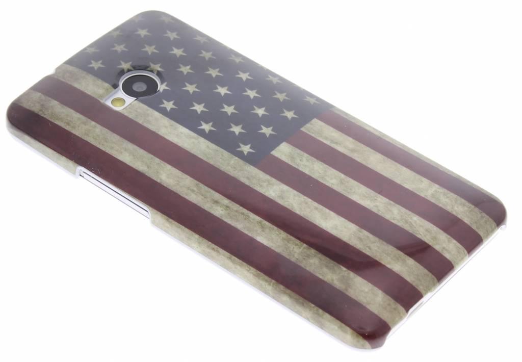 USA vlag design gladde hardcase hoesje voor de HTC One