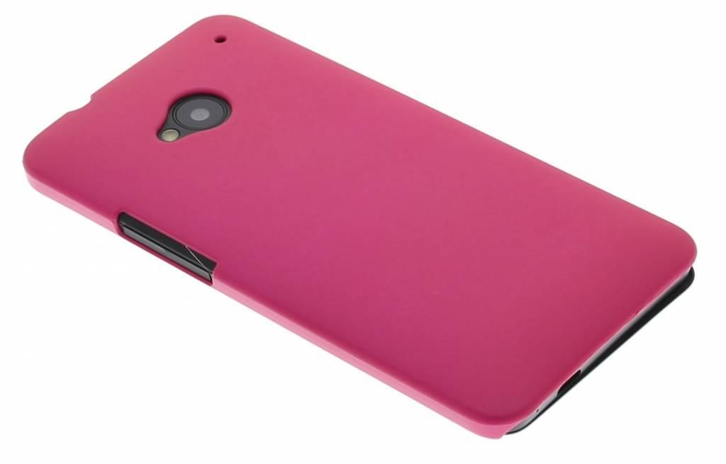 Fuchsia effen hardcase hoesje voor de HTC One