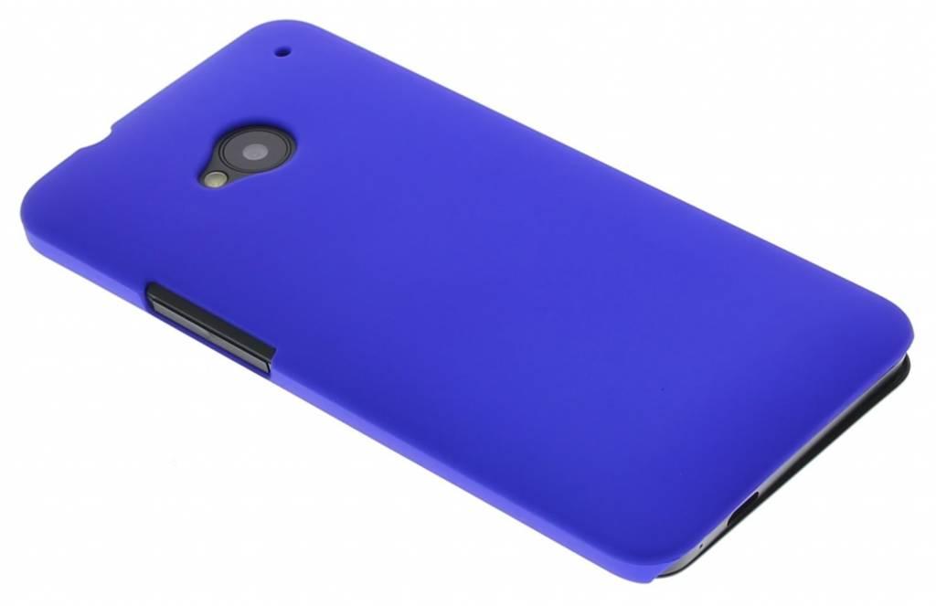 Blauw effen hardcase hoesje voor de HTC One
