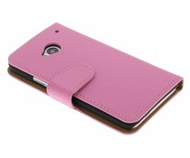 Roze booktype hoes HTC One