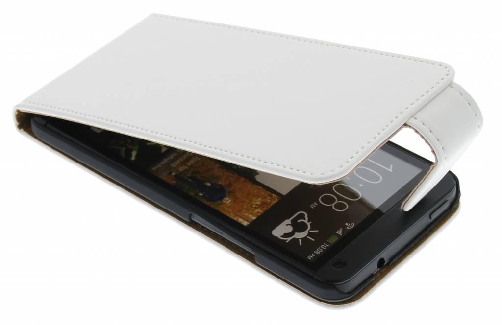 Witte classic sterke flipcase HTC One