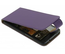 Paars classic flipcase HTC One