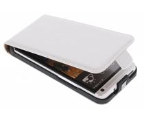 Wit luxe flipcase HTC One
