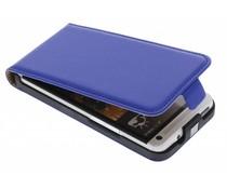 Blauw luxe flipcase HTC One