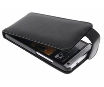 Zwart stijlvolle flipcase HTC One