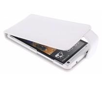 Wit stijlvolle flipcase HTC One