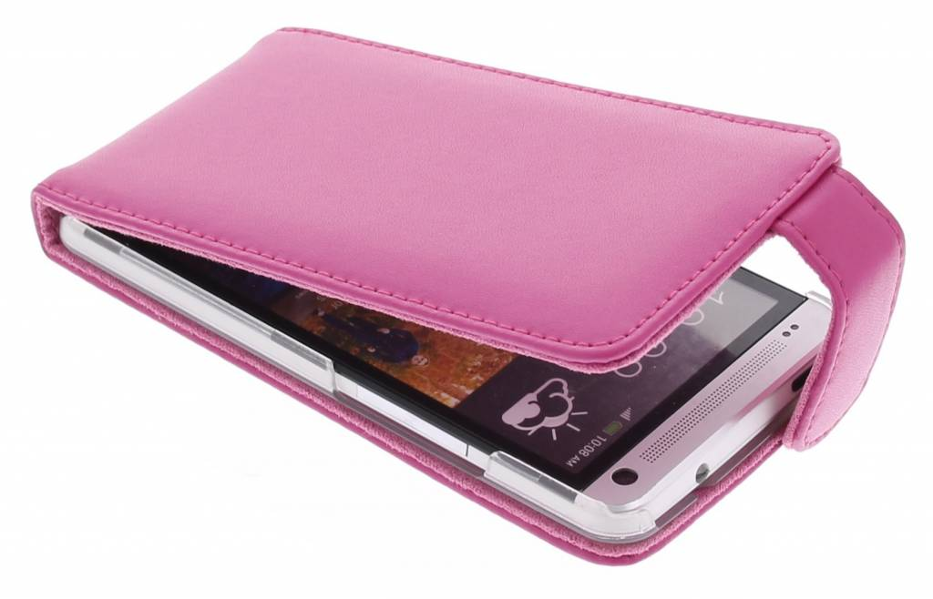 Fuchsia stijlvolle flipcase voor de HTC One M7